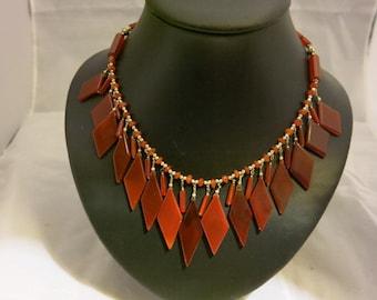 Cornelian Grecian Style Necklace