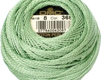DMC 368 Perle Cotton Thread | Size 8 | Light Pistachio Green