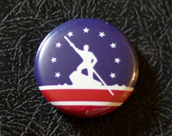 "1"" Richmond VA flag button - Virginia, city, pin, badge, pinback"