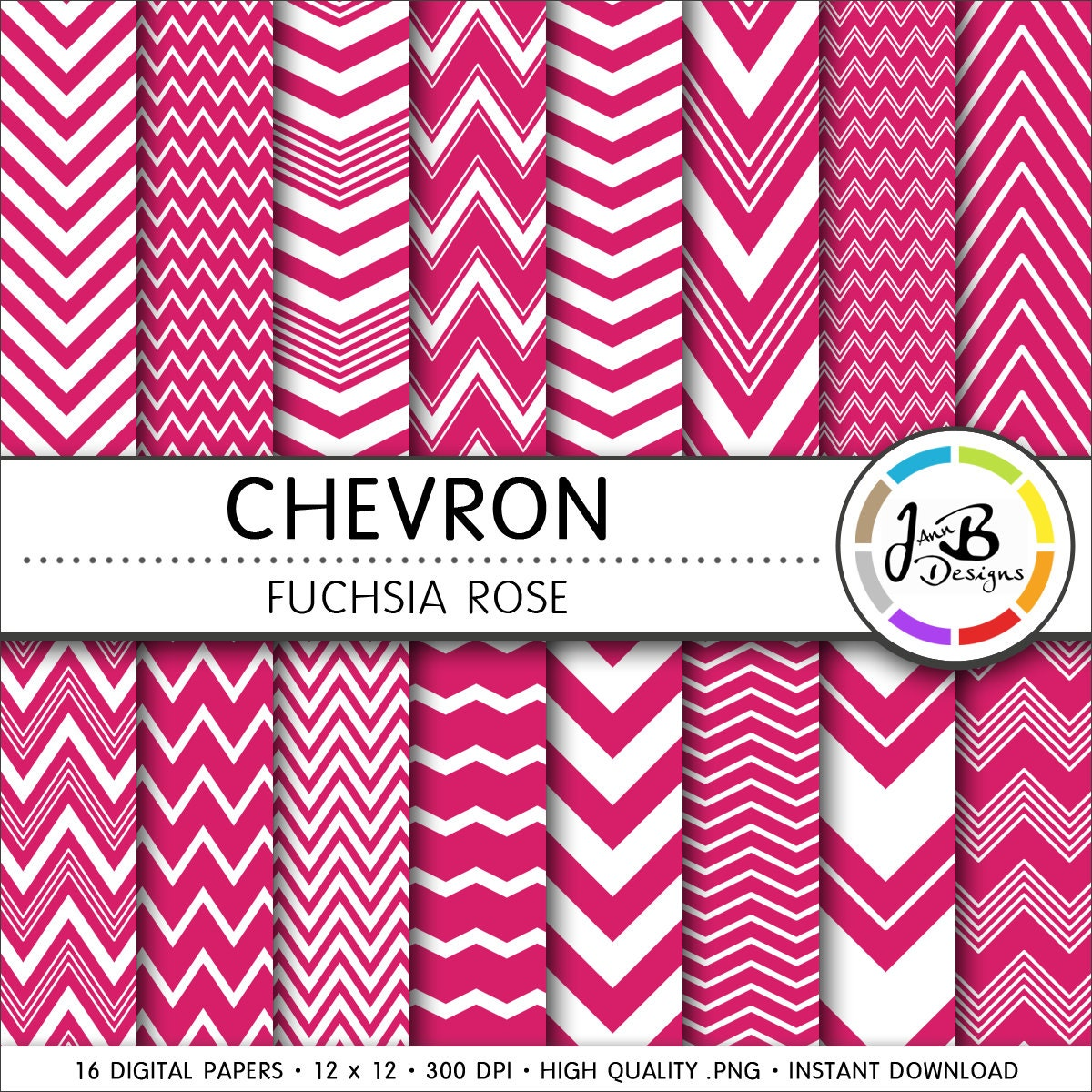 Papel Digital de Chevron rosa fucsia rosa blanco Chevron