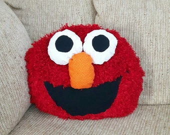 Fuzzy Elmo Pillow 3D eyes and nose