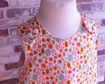 Cuckcoo calling white floral pinafore dress baby & girls 0-10 years custom made