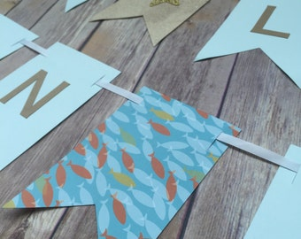 Two Less Fish in the Sea banner - Nautical Wedding - Bridal Shower - Engagement Party