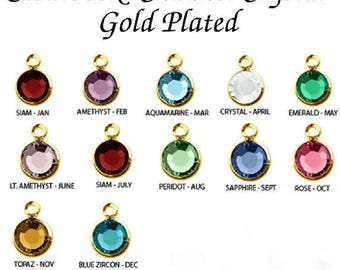 Swarovski Channel Stones gold plated