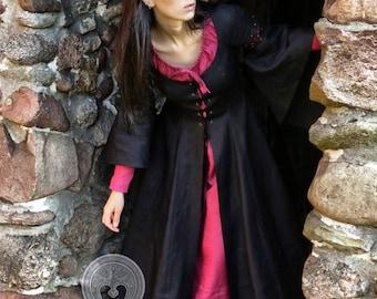 "Linen dress ""Morgaine""  fantasy medieval dress, elves dress, priestess fairy sorceress medieval dress"