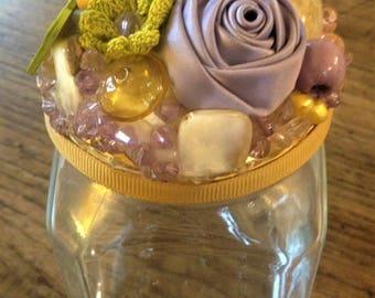 Wishes Jar Spring, hand-decorated jar