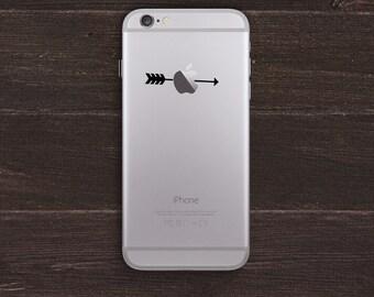 Arrow through the Apple Vinyl iPhone Decal BAS-0230