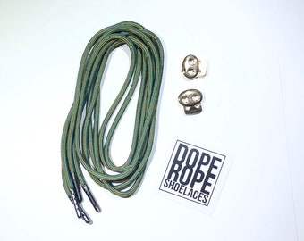 Rapture Round Shoelace (paracord)  with custom color aglets