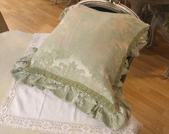 Damask Cushion Vintage