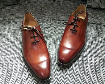 Custom made shoes wholecut oxford lace up shoes