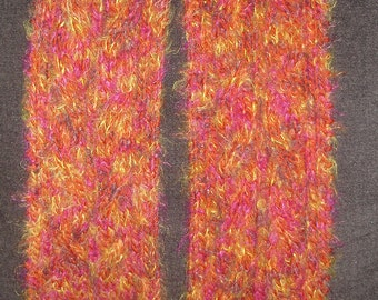 "New Handmade Berry Angel Hair Cable Knit Scarf - 6"" x 67"""