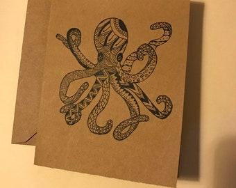 Zen Octopus Notecards (10 pack)