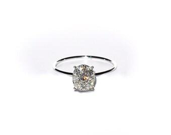 18k Heirloom Diamond Cluster Ring