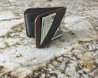 Vertical Folded Card Holder with  Cash Strap