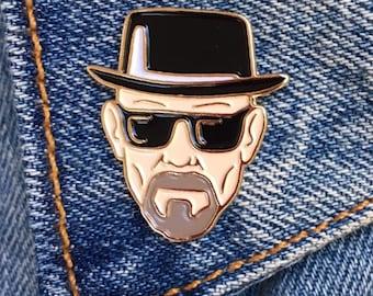 Walter White Pin, Breaking Bad, Soft Enamel Pin, Jewelry, Art, Gift (PIN17)