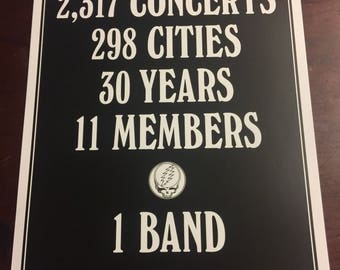 Grateful Dead 50th Anniversary Promo Poster