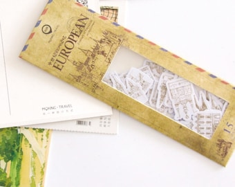 45 Pieces of European Architecture Stickers