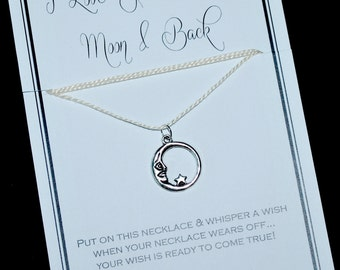 Love You To The Moon Wish Necklace - Buy 3 Items, Get 1 Free