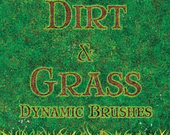 Dynamic Dirt and Grass Photoshop Brushes