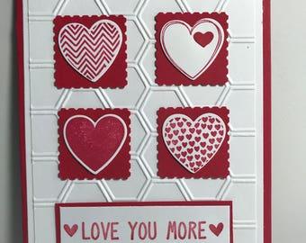 Valentine Day Card, hand made.