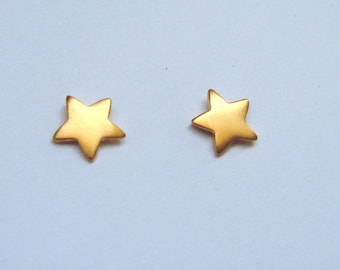 Stud Earrings  Star Stud sterling silver Bridal Jewelry earrings Tiny gold plated star Earring Small Bridal Earrings dainty christmas  star