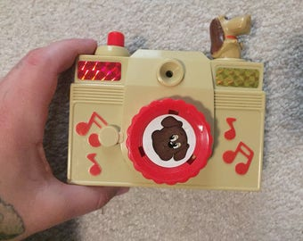 Vintage pound puppies toy musical camera