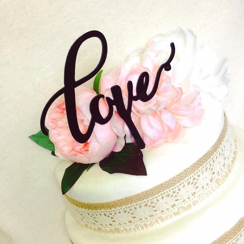 Love Cake Topper Baby Shower Wedding Cake En Ement Cake Topper Cake Decoration Cake Decorating Love Word Cake Topper Love Topper Love Cake