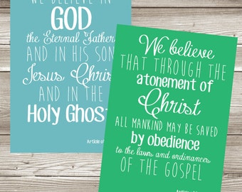 Printable LDS Articles of Faith