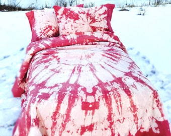 Coral and Cream Duvet Set (full/queen/king)
