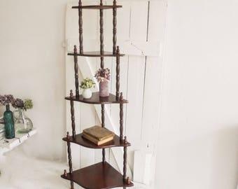 Corner shelf shelf Etagere French, vintage