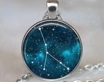Cancer Constellation necklace, Cancer Zodiac necklace constellation pendant constellation jewelry Zodiac Cancer key chain key ring key fob