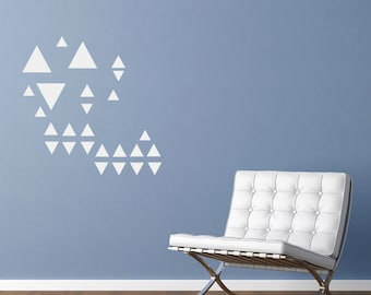 Set of triangles wall stickers art decals