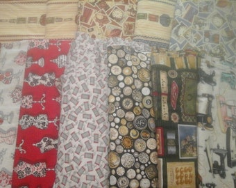 10 Yards Sewing Themed Fabric