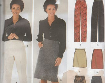 Simplicity 5844 Vintage Pattern Womens Skirts and Pants in Variations Size 6,8,10,12 UNCUT
