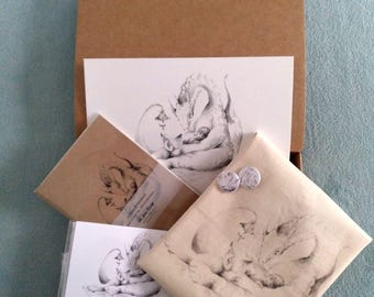 GIFT BOX - Limited Edition - Fantasy Illustration - Reader Dragon