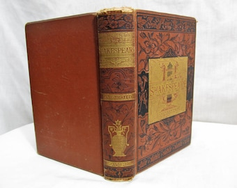 The Complete Works of William Shakespeare with His Will and A Copious Glossary of Obsolete Words Also A Memoir, John W. Lovell 1881 Book
