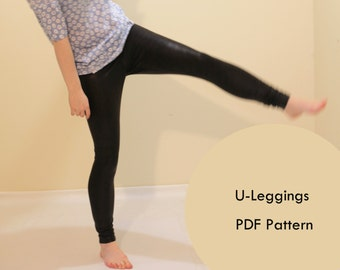 Legging Sewing Pattern; Instant PDF ,woman pants ; tights; PDF Sewing Patterns