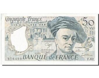 france 50 francs 50 f 1976-1992 ''quentin de la tour'' 1990 km #152e...