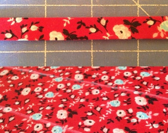 Red Flower Edge Trim Add On To Any Small Appliance Cover