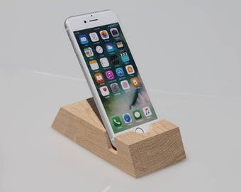 iPhone docking station, iPhone charging station, iPhone stand, Personalized gift, Wood iPhone dock, iPhone desk, Gift for him, Gift for her
