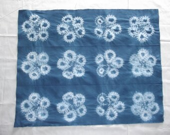 Fat quarter, Shibori stitched , Indigo , Shibori indigo, Quilting fabric, Material, Fabric Sewing supplies,Quilting supplies, craft supplies