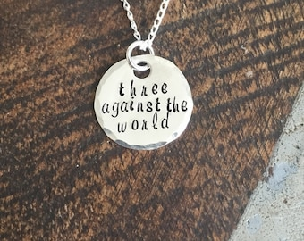 Handstamped Necklace Custom Necklace Personalized Quote Necklace Sentimental Jewelry Gift for Friend Sterling Silver Necklace
