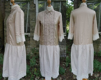 SALE Vintage Upcycling Handmade Shabby chic/Edwardian/ 20s Flapper inspired dress
