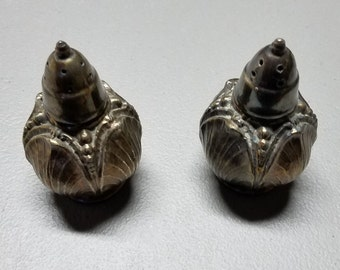 Viking Salt and Pepper Skakers, Silver Plated