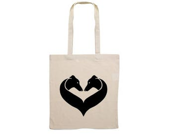 Canvas bag Greyhound heart