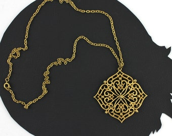Bohemian Moroccan Inspired Gold Scroll Necklace