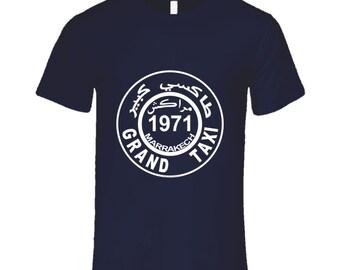 1971 Marrakesh Marrakech Grand Taxi T-shirt Morocco