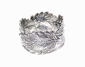 Forest Silver four Leaf ring .925, sterling silver