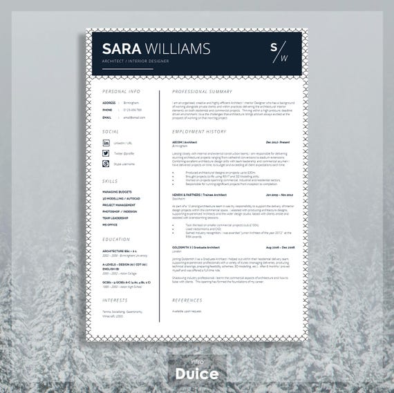 Curriculum Vitae CV Design Resume Design Instant Digital