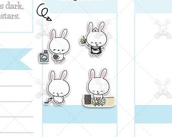 Binky & Foo Foo - Chores - Bunny Stickers - B7